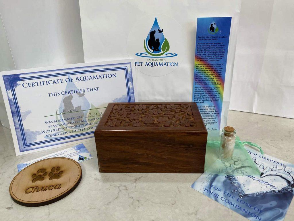 aquamation wooden urn